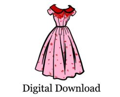 50s Dress Sewing Pattern w Peter Pan Collar w Bow by shilohcoral