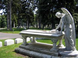 cemetery angel by circusspider-stock