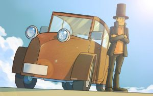 The Laytonmobile (Wallpaper) by wildragon