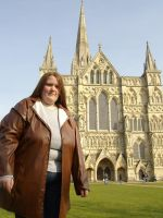 Donna at Salisbury Cathedral by teamTARDIS