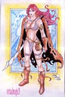 RED SONJA by RODEL MARTIN (2009A) by rodelsm21