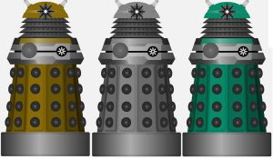 Paradigm Daleks - 3 unused colours by DoctorWhoOne