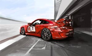 Porsche 911 997 by darkdamage