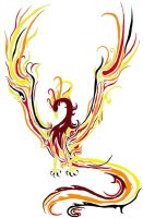 Flaming Phoenix Tatoo by Albinodrow409