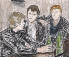Berlin Trilogy in a bar by gagambo