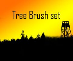 Tree Brush set v.02 by SiDiusBexter
