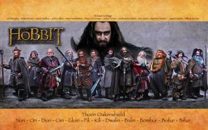 The Hobbit: Dwarven Wallpaper by FaerieCarousel