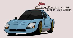 Hino Contessa GT exteen blue by ngarage