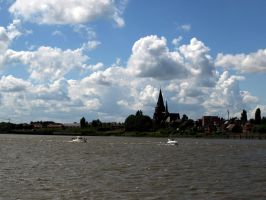 Boats, a Church and a Sky by Danferno