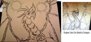 Twin Suns Dragon Work in progress by Pabloramosart