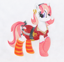 Pirate Pony Foxxy by TwilightFlopple