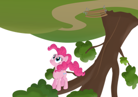 Pinkie Pie Looking Down by Frogem