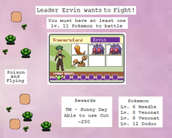 Leader Ervin Battle by MyPokemonStory