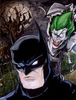 Batman vs. Joker by mjfletcher