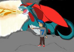 Salamence and Shane by Washesp