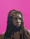 Paper Michonne by tripperfunster