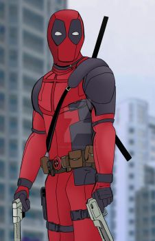 Deadpool color by isaac-wolfe