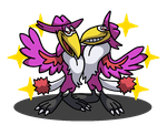 Shiny Honchkrow + Heckle and Jeckle by shawarmachine