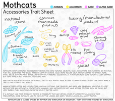 Mothcats: Accessories Trait Sheet by doroling