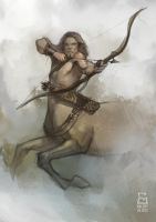 Centaur Archer Sketch 02 by vladgheneli