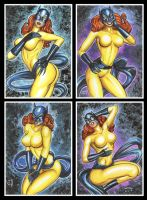 HELLCAT PERSONAL SKETCH CARDS by AHochrein2010