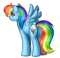 Rainbow Dash by catlover1672