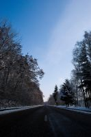 Road into the white by RichardRH