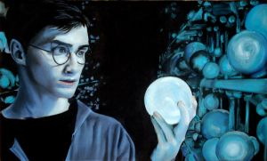 Harry in the Hall of Prophecy by meimicat