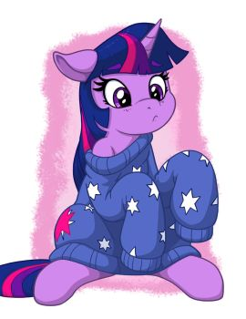 Twilight in Over-sized Sweater by LateCustomer