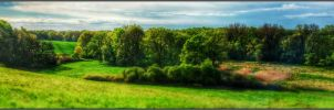 Spring slope Panorama HDR by Clu-art