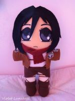 Mikasa Ackerman Attack on Titan Shingeki no Kyojin by VioletLunchell