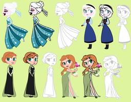 Elsa And Anna by MyWinterPrincess