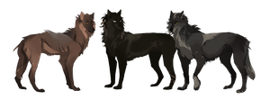 Three Brothers | WoLF | Adopts by Copperhaven
