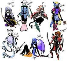 Minor Characters 1 by Chamfruit
