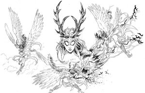 Lilith Action Shots Inks by John-Curtis-Ryan