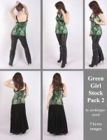 Green Girl Stock Pack 2 by archetype-stock