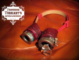 Gliese Steampunk Goggles by tursiart