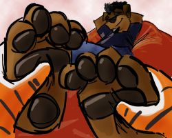 Rottie Paws by ReallyReallyBigBang