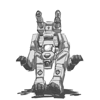 Doodle: RFX-Z Red Fox Zero BattleMech by prdarkfox