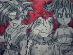 Chrono Trigger: Crono, Marle and Frog by CpointSpoint