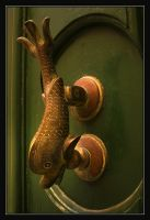 Dolphin door Knob by ruthsantcortis