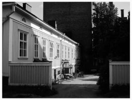 Yard at the Back of Town by Berlioz-II