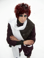 Gaara - Snow Shower by CauldronOfMischief