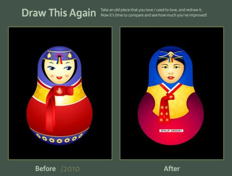 Draw it again: Matryoshka Korea by sahua