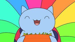 Catbug Wallpaper - SUGAR PEAS! by SlowpokeBurger