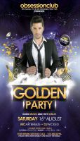 Golden Party Flyer by outlawv15