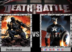 Super Soldiers: Deathstroke vs Captain America by TheWickedAvatar1