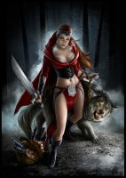 Red riding hood by windmile