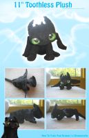 Toothless Plush - 11' by Zakeno