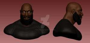 CT Fletcher Bust WIP by EvilHayato